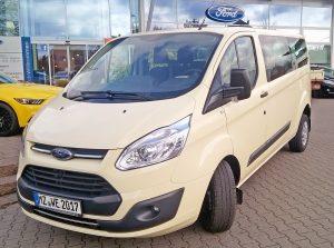 unser neuestes Fahrzeug in der Flotte Ford Custom Taxibus