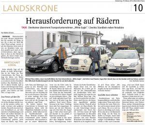 Dienheimer übernimmt das Transportunternehmen White Eagle Taxi & Limousinenservice